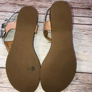 Coach Shoes - Coach Clarkson Sandal Size 5 Metallic Silver/Bown
